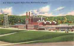 View of Dupont's Nylon Plant Postcard
