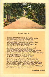 No'th Ca'lina Poem