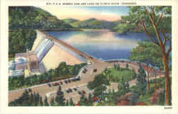 T. V. A. Norris Dam And Lake on Clinch River Postcard