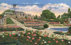A Section of Rose Garden, Rock Springs Park Postcard