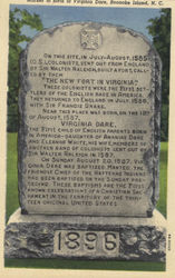 Marker to birth of Virginia Dare