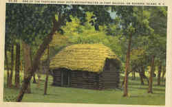 One of the Thatched Roof Huts Reconstructed in Fort Raleigh