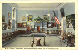 Interior, Alexandria Washington Masonic Lodge