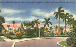 View of South Lawn and Cabana Club, Hollywood Beach Hotel