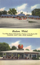 Hudson Motel, Hudson Fruit and Juice Market Postcard