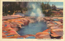Oblong Geyser crater, Yellowstone National Park