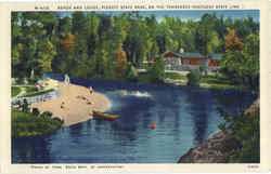 Beach and Lodge Postcard