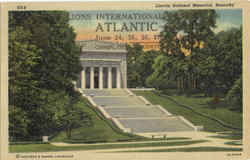 Lincoln National Memorial Postcard
