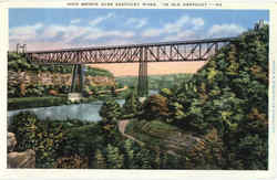 High Bridge Over Kentucky River Postcard