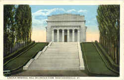 Lincoln Memorial Hall on Lincoln Farm Postcard