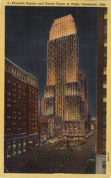 Fountain Square and Carew Tower at Night