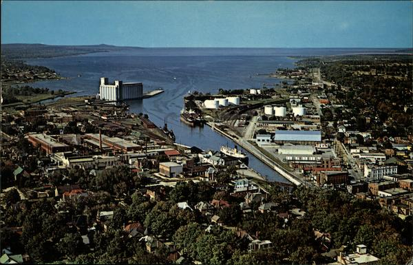 An Aerial View of Owen Sound Canada Ontario
