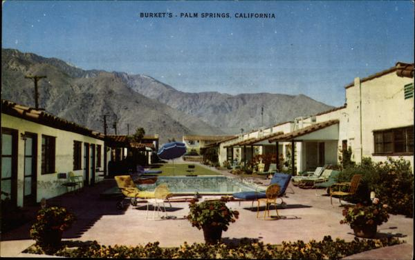 Burket's Cottages and Hotel Rooms Palm Springs California