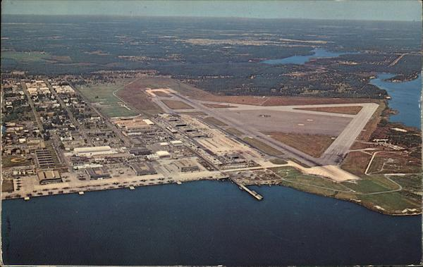 Aerial View of U.S. Naval Air Station Jacksonville Florida