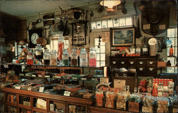 the penny candy counter at wayside country store sudbury  ma