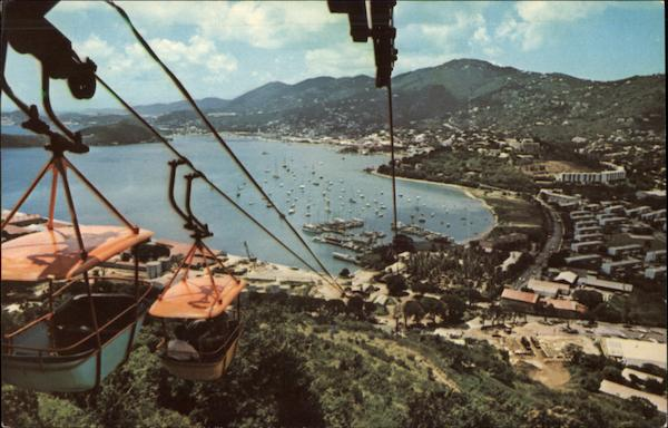 Tramway Overlooking Yacht Haven Saint Thomas Virgin Islands