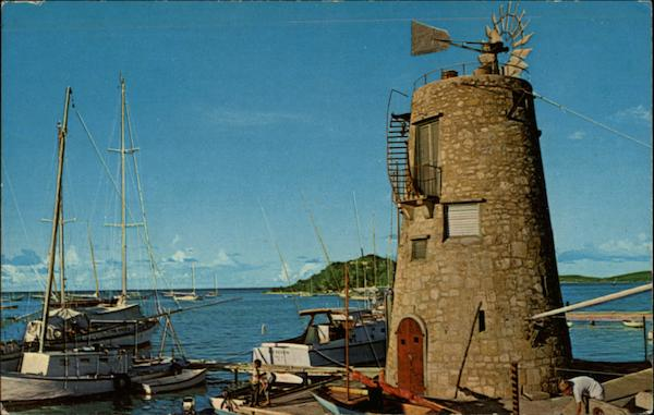 The Club Comanche Wind Mill In Beatiful Christiansted Harbor St. Croix Virgin Islands