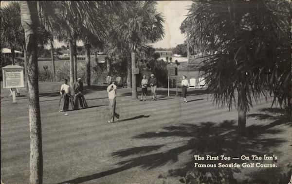 The first tee on the Inn's famous Seaside Golf Course Ponte Verra Beach Florida