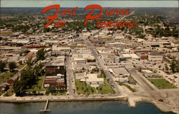 Aerial view of Ft. Pierce Fort Pierce Florida Ward Beckett