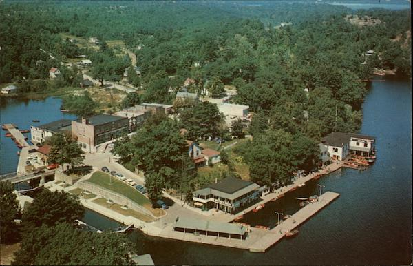Partial Aerial View of Port Carling Muskoka Canada