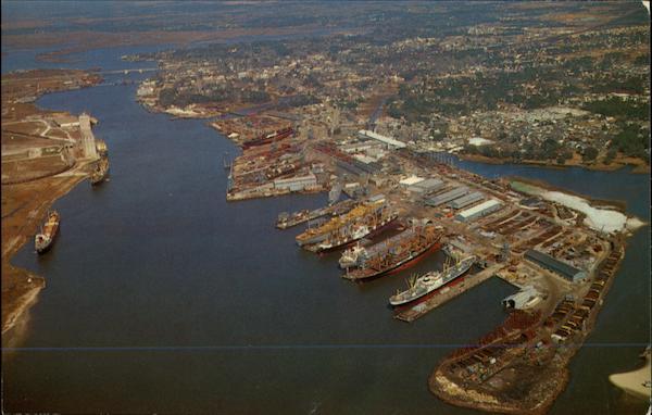 pascagoula river and ingalls shipyard mississippi