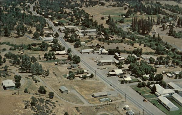 Aerial view of the town Hayfork California