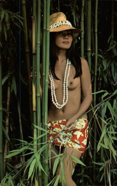 Hawaiian girl in bamboo forest Risque & Nude