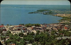 Aerial View of Cadillac, Michigan