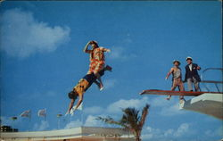 Russ Dodson and his Diving Collegians Postcard