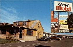 Berry's Motel Postcard