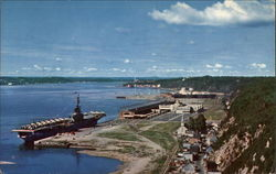 Quebec Harbour Postcard