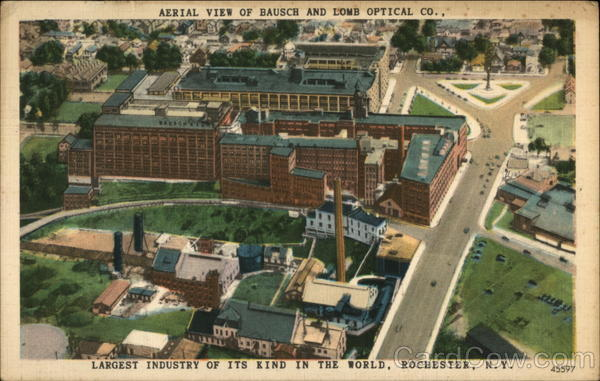 Aerial View of Bausch and Lomb Optical Co Rochester New York