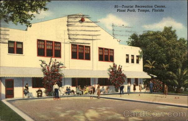 Tourist Recreation Center, Plant Park Tampa Florida