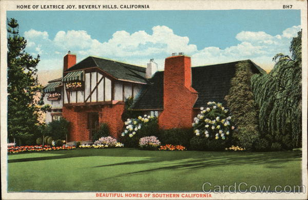 Home of Leatrice Joy Beverly Hills California