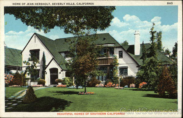 Home of Jean Hersholt Beverly Hills California