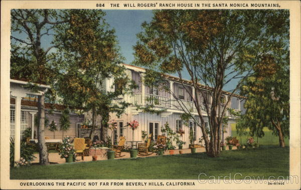 The Will Rogers' Ranch House in the Santa Monica Mountains Beverly Hills California