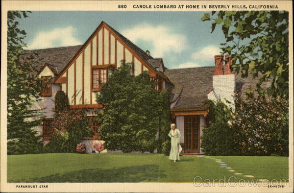 Carole Lombard at Home Beverly Hills California