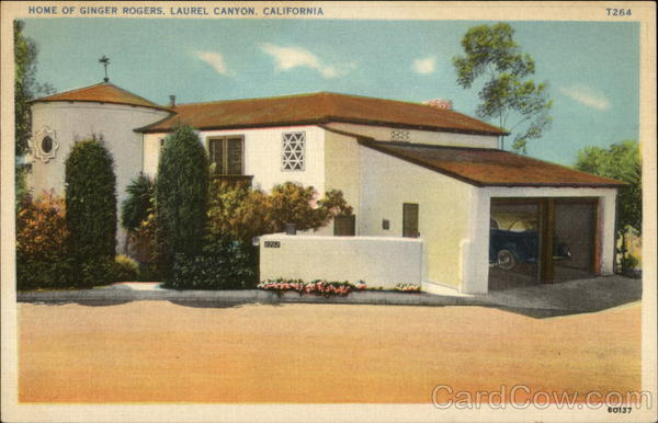Home of Ginger Rogers Laurel Canyon California