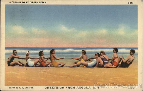 A Tug of War on the Beach Angola New York