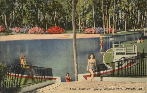 Sanlando Springs Tropical Park Orlando Florida