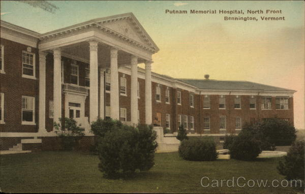 Putnam Memorial Hospital, North Front Bennington Vermont