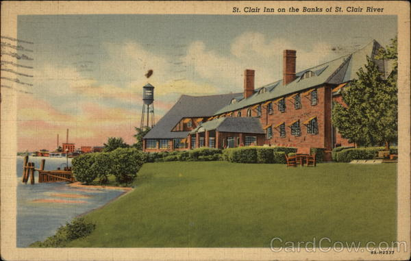 St. Clair Inn on the Banks of the St. Clair River Port Huron Michigan