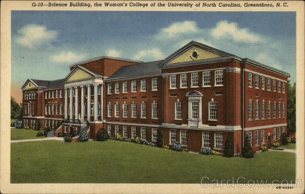 Science Building, the Woman's College of the University of North Carolina Greensboro
