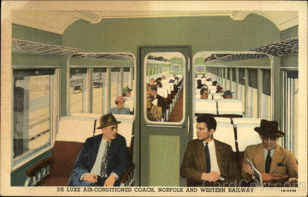 De Luxe Air-conditioned Coach, Norfolk and Western Railway