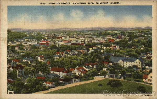 View from Belvedere Heights Bristol Virginia