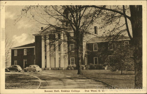 Bonner Hall, Erskine College Due West South Carolina