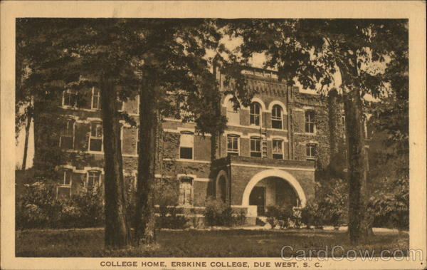 College Home, Erskine College Due West South Carolina