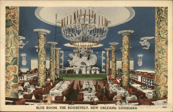 Blue room, The Roosevelt New Orleans Louisiana