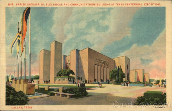 Industries, Electrical and Communcations Building at Texas Centennial Exposition Dallas