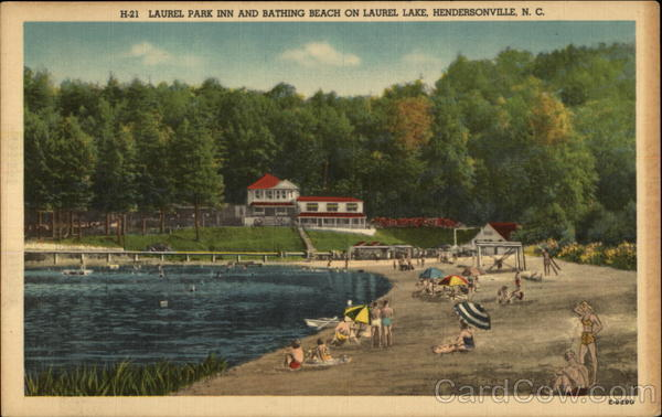 Laurel Park Inn And Bathing Beach On Laurel Lake